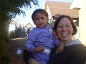 Lensi and I at the Sabolciu gypsy village