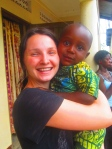 Mihaela and Isaac in Aura, Uganda