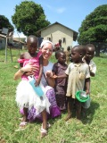 With some precious children in Uganda!