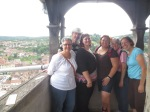 A picture with some of the team in Sighisoara.