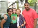 Tiffany, Sabina and Morgan with Verica.