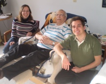 My Grandpa, my brother and I.