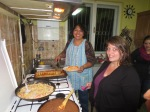 The two team leaders - Ely and Myrna cooking for us.
