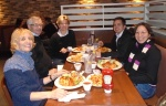 Dinner with Harold, Karen, my Mom, my brother Jonathan and I.