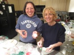 Decorating Christmas cookies with my Mom.