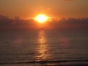 Sun set in Durres.