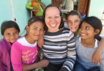 Here I am with some of the girls in Elbasan.