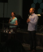 Sharing about the DTS at the Salem church