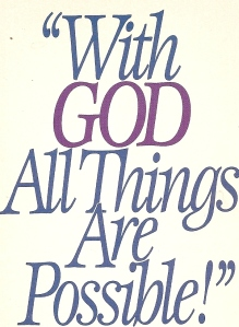 with God all things are possible2