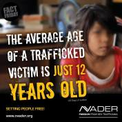 The average age of a trafficked victim