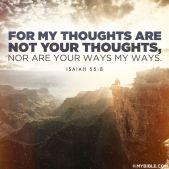 Isaiah 55 v 8 - 9