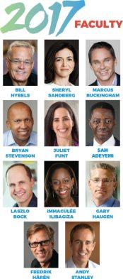 Speaker list for Global leadership summit 2017