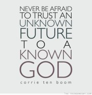 trust in God with your future